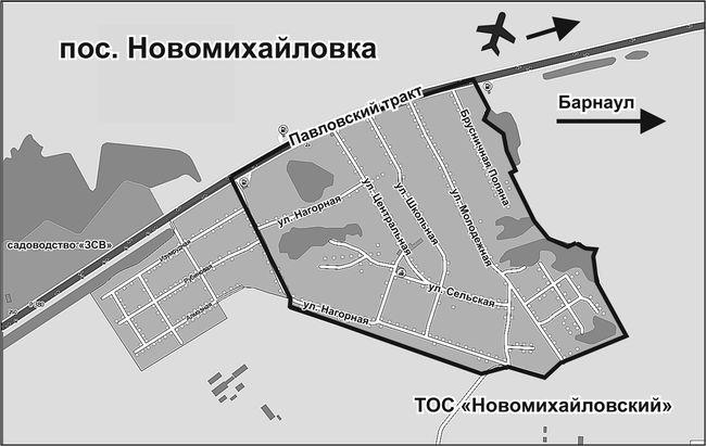 Схема п. новомихайловском